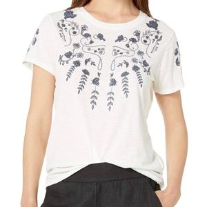 NWT Lucky Brand Floral Embroidered Tee